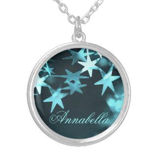 Christmas stars custom name necklace for her