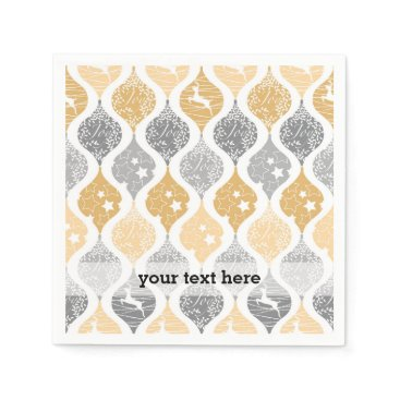 Professional Business Christmas stars deer joy pattern napkin