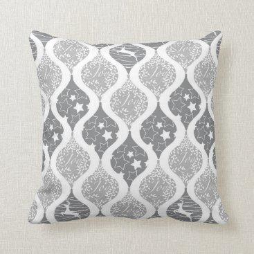 Professional Business Christmas stars deer joy pattern throw pillow