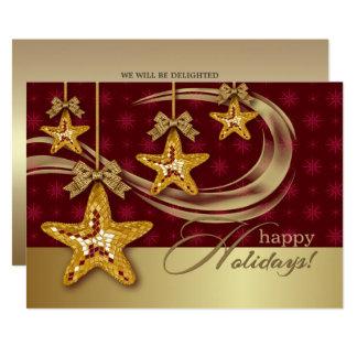 Christmas Stars Design Christmas Party Invitation