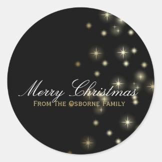 Christmas Stars Festive Classic Round Sticker