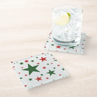 Christmas Stars Glass Coaster