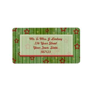 Christmas Stars Label label