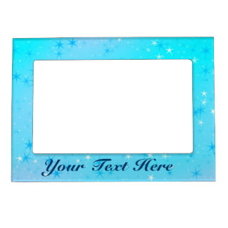 Christmas Stars Magnetic Picture Frame, Your Text Magnetic Frame