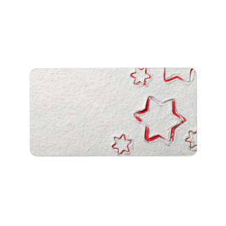 Christmas Stars On Flour Background Label