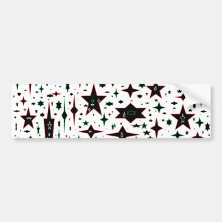 Christmas Stars on White Car Bumper Sticker