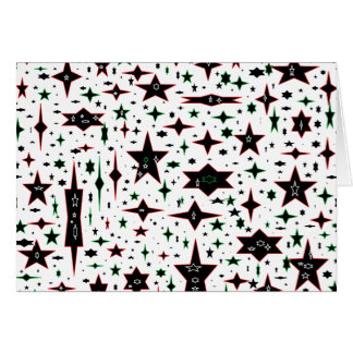 Christmas Stars on White Greeting Card
