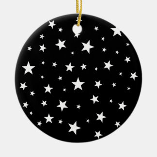 Christmas Stars Ornament! Double-Sided Ceramic Round Christmas Ornament