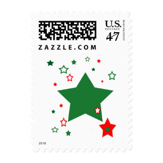 christmas stars postage