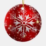 Christmas Stars & Snowflakes - Red Christmas Tree Ornaments