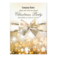 Christmas Stars Sparkle Corporate Party Invitation