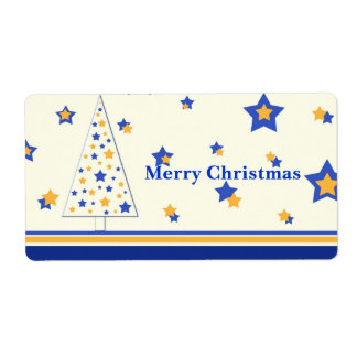 Christmas stars tree - Label
