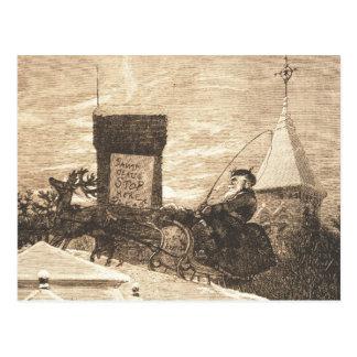 Christmas Station, Thomas Nast, 1889 Postcard