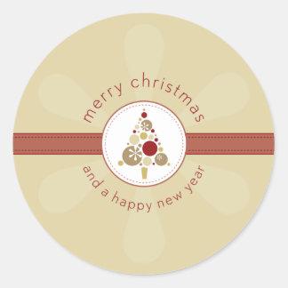 CHRISTMAS STICKER :: modern spotty tree 4