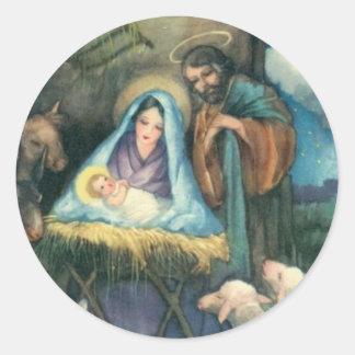 CHRISTMAS STICKER - NATIVITY SCENE