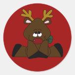 Christmas Sticker Round Sticker
