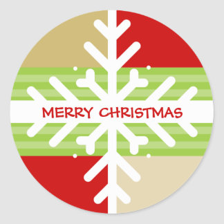 CHRISTMAS STICKER :: snowflake dissection 4