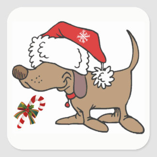 *CHRISTMAS STICKER* WITH **CHRISTMAS DOGGIE** SQUARE STICKER