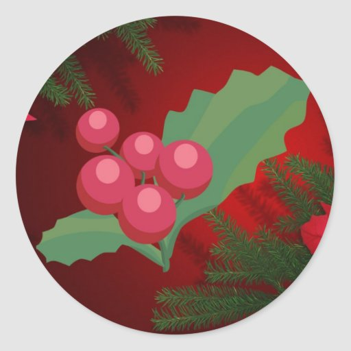 christmas sticker, your own text classic round sticker