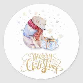 Christmas stickers  Cute Bear