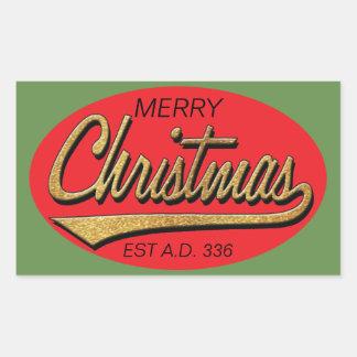 """CHRISTMAS Stickers """"Retro Christmas Est A.D. 336"""""""