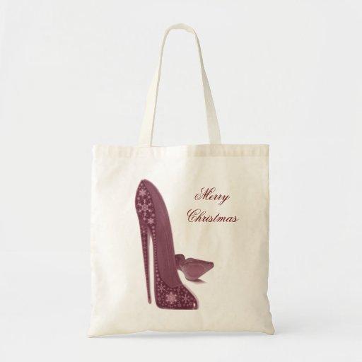 Christmas Stiletto High Heel Shoes Art Bags
