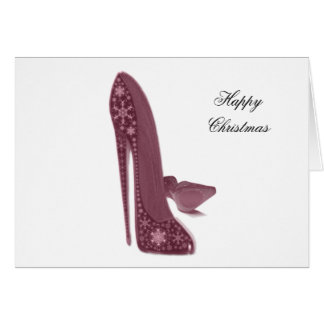 Christmas Stiletto Shoes Art Card
