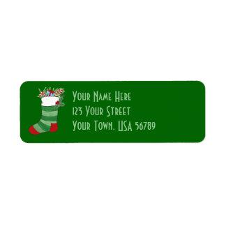 Christmas Stocking - Address Label