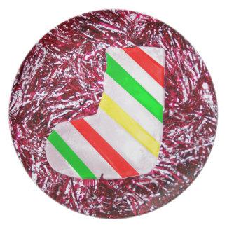 Christmas Stocking and Garland Plate
