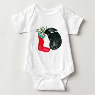Christmas stocking baby bodysuit