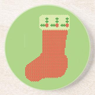Christmas Stocking Bead Pattern Coasters