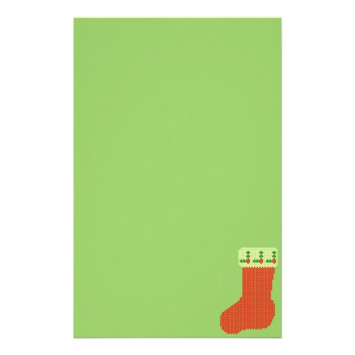Christmas Stocking Bead Pattern Stationery Design