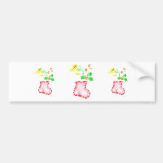 Christmas Stocking Car Bumper Sticker