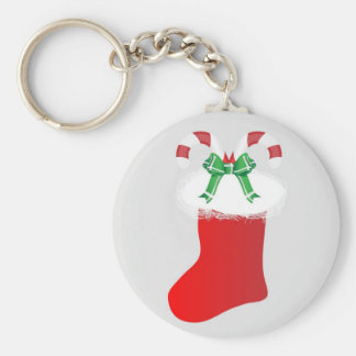 Christmas Stocking Candy Cane Peace Destiny Keychain