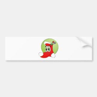 Christmas Stocking Cartoon Bumper Sticker