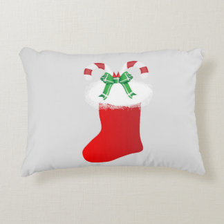 Christmas stocking christmas stocking with candy accent pillow