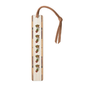 Christmas stocking clipart maple bookmark