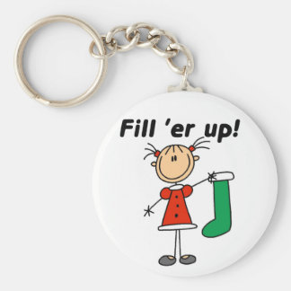 Christmas Stocking Fill 'er Up Tshirts and Gifts Keychain