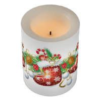 Christmas Stocking Garland Flameless Candle