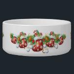 """Christmas Stocking Garland Large Pet Bowl<br><div class=""""desc"""">Christmas Stocking Garland</div>"""