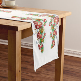 Christmas Stocking Garland Long Table Runner