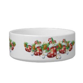 Christmas Stocking Garland Medium Pet Bowl