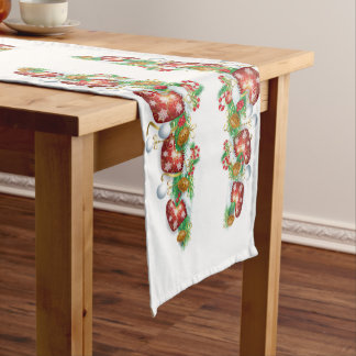 Christmas Stocking Garland Short Table Runner
