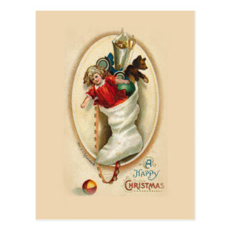 Christmas Stocking Gifts Postcard