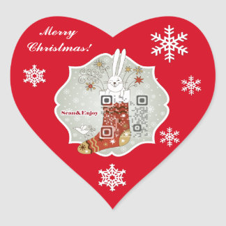 Christmas Stocking Heart sticker with funny videos