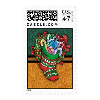 Christmas Stocking Holiday Postage Stamps