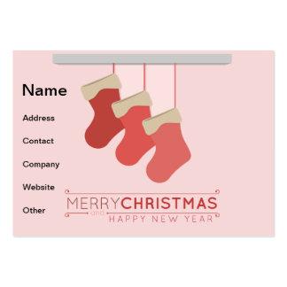 Christmas stocking illustration business card templates