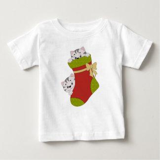 Christmas Stocking Kittens, Fine Jersey T-Shirt