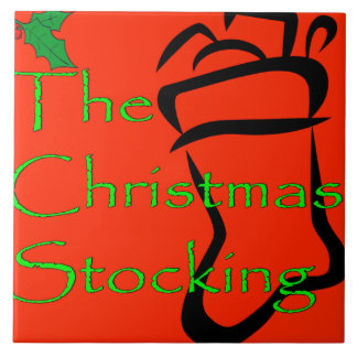 Christmas Stocking logo tile/trivet