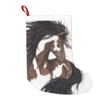 Christmas Stocking Majestic Pinto Horse by Bihrle